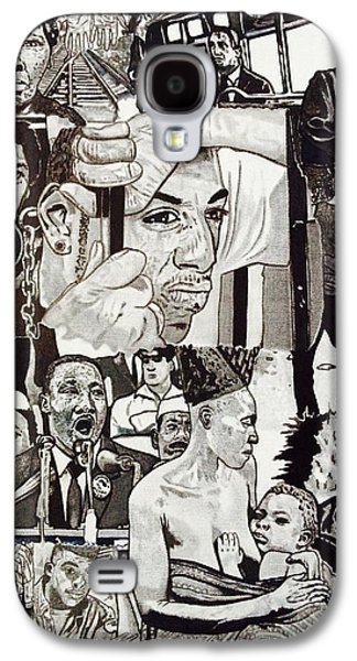 Barack Obama Drawings Galaxy S4 Cases - Struggle Thou Art Forgiven Galaxy S4 Case by Demetrius Washington
