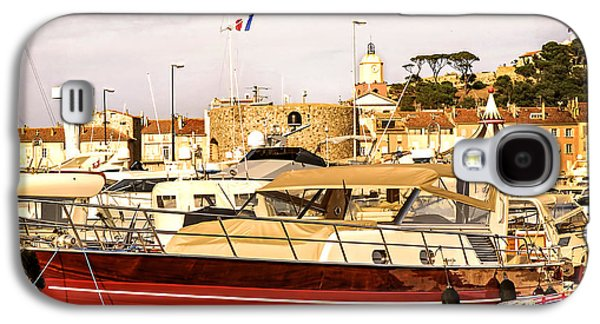 Yacht Galaxy S4 Cases - St.Tropez harbor Galaxy S4 Case by Elena Elisseeva
