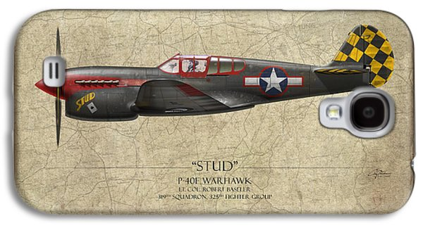 P-40 Galaxy S4 Cases - Stud P-40 Warhawk - Map Background Galaxy S4 Case by Craig Tinder
