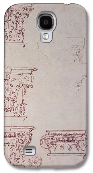 Drawing Galaxy S4 Cases - Studies For A Capital Brown Ink Galaxy S4 Case by Michelangelo Buonarroti