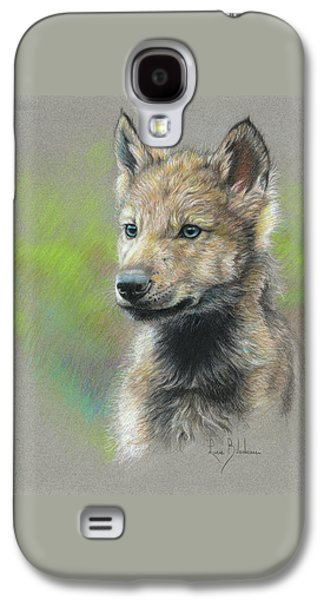Animals Drawings Galaxy S4 Cases - Study - Baby Wolf Galaxy S4 Case by Lucie Bilodeau