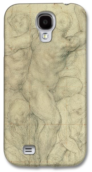 Nudes Drawings Galaxy S4 Cases - Study for a Group of Nudes Galaxy S4 Case by Jacopo Pontormo