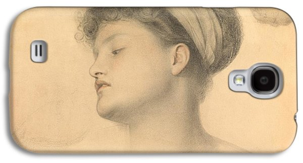 20th Drawings Galaxy S4 Cases - Study for Girl with Doves Galaxy S4 Case by Anthony Frederick Augustus Sandys
