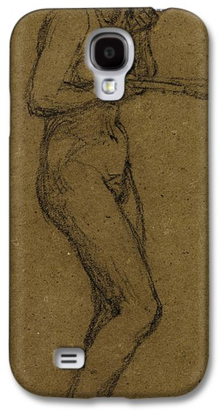 Sex Drawings Galaxy S4 Cases - Study for Shuttlecock Galaxy S4 Case by Albert Joseph Moore