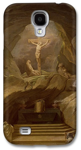 Calvary Galaxy S4 Cases - Study For The Chapelle Du Calvaire In The Eglise De Saint-roch Oil On Canvas Galaxy S4 Case by Nicolas-Bernard Lepicie