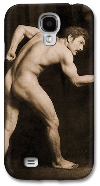 Posed Photographs Galaxy S4 Cases - Study of a Male Nude Galaxy S4 Case by Wilhelm von Gloeden