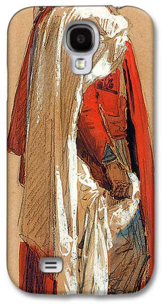 Robe Drawings Galaxy S4 Cases - Study of a man in Oriental costume Galaxy S4 Case by Isidore Pils