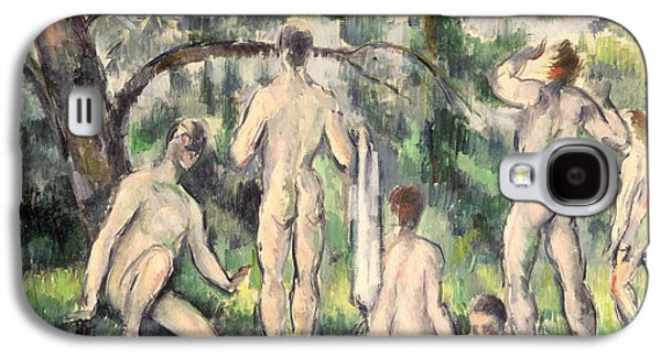 Nudes Paintings Galaxy S4 Cases - Study of Bathers Galaxy S4 Case by Paul Cezanne