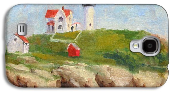 Nubble Lighthouse Paintings Galaxy S4 Cases - Study of Nubble Light Galaxy S4 Case by Jason Walcott
