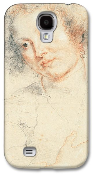 Saints Drawings Galaxy S4 Cases - Study of the Head of St. Apollonia Galaxy S4 Case by Peter Paul Rubens
