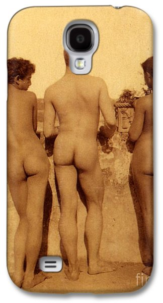 Study Of Three Male Nudes Galaxy S4 Case by Wilhelm von Gloeden