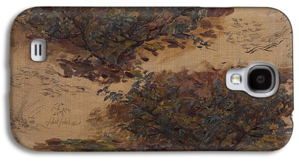 Nature Study Photographs Galaxy S4 Cases - Study Of Trees Oil On Panel Galaxy S4 Case by Henri Duhem
