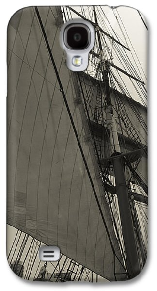 Suare And Triangle Black And White Sepia Galaxy S4 Case by Scott Campbell