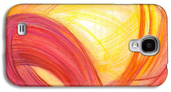 Abstract Movement Drawings Galaxy S4 Cases - Sublime Design Galaxy S4 Case by Kelly K H B