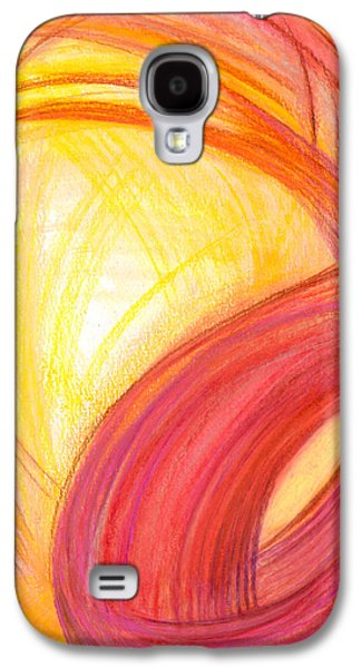 Abstract Movement Drawings Galaxy S4 Cases - Sublime Design-V1 Galaxy S4 Case by Kelly K H B