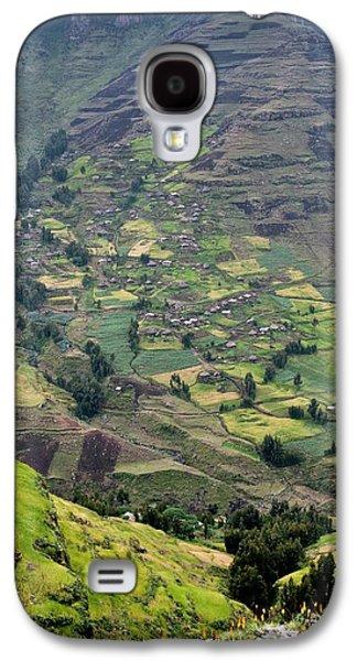 Subsistence Farming In Simien Mountains Galaxy S4 Case by Tony Camacho