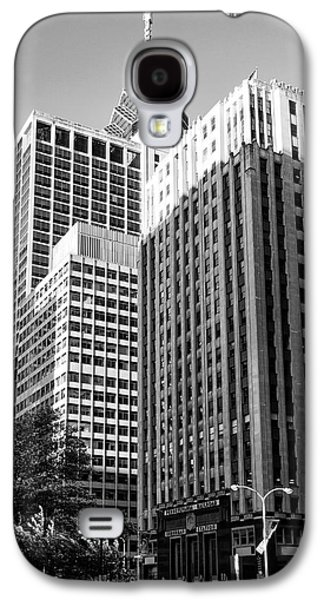 Suburban Digital Art Galaxy S4 Cases - Suburban Station Building - Philadelphia in Black and White Galaxy S4 Case by Bill Cannon