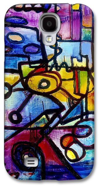 Abstract Paintings Galaxy S4 Cases - Suburbias Daily Beat Galaxy S4 Case by Regina Valluzzi