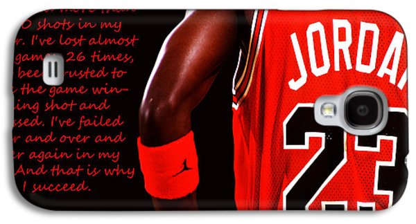 Athlete Digital Galaxy S4 Cases - Success Quote 1 Galaxy S4 Case by Brian Reaves