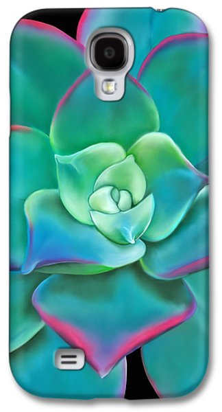 Botanical Pastels Galaxy S4 Cases - Succulent Aeonium Kiwi Galaxy S4 Case by Laura Bell