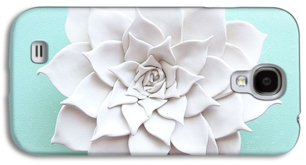 Floral Ceramics Galaxy S4 Cases - Succulent Plant Wall Sculpture - Spring Galaxy S4 Case by Lenka Kasprisin