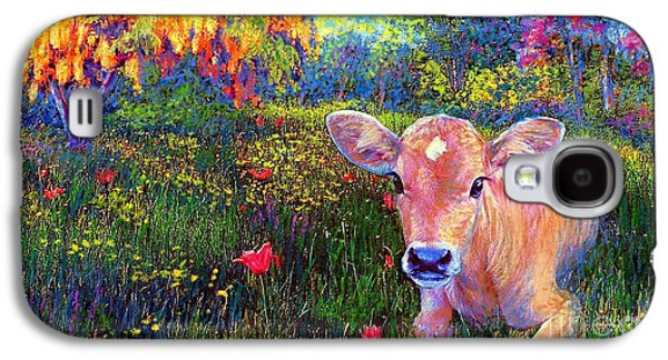 Such A Contented Cow Galaxy S4 Case by Jane Small