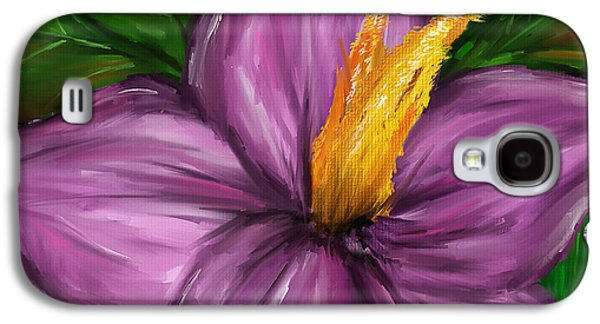 Purple Art Galaxy S4 Cases - Such Beauty- Magnolia Paintings Galaxy S4 Case by Lourry Legarde