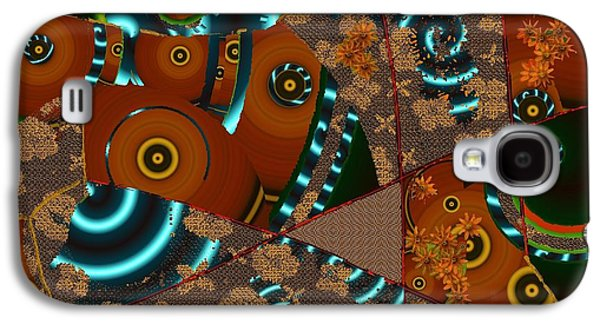 Nature Abstract Tapestries - Textiles Galaxy S4 Cases - Suede Twirl Galaxy S4 Case by Claire Masters