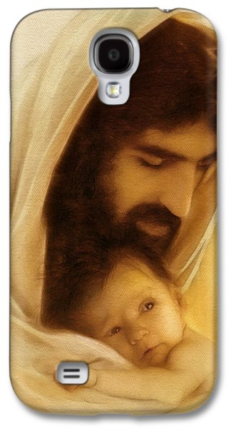 Jesus Art Galaxy S4 Cases - Suffer the Little Children Galaxy S4 Case by Ray Downing