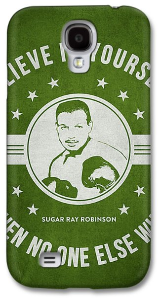 Heavyweight Digital Galaxy S4 Cases - Sugar Ray Robinson - Green Galaxy S4 Case by Aged Pixel