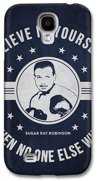 Heavyweight Digital Galaxy S4 Cases - Sugar Ray Robinson - Navy Blue Galaxy S4 Case by Aged Pixel