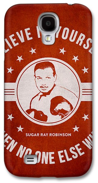 Heavyweight Digital Galaxy S4 Cases - Sugar Ray Robinson - Red Galaxy S4 Case by Aged Pixel