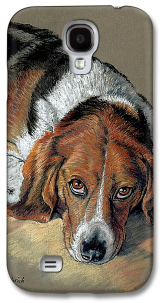 Dogs Pastels Galaxy S4 Cases - Sully Galaxy S4 Case by Tom Hedderich