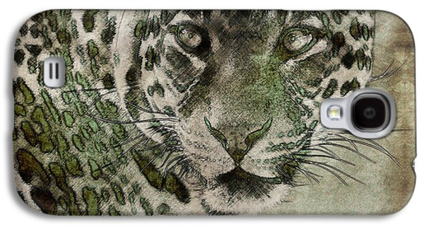 The Tiger Paintings Galaxy S4 Cases - Sultan of the Jungle - Cheetah Galaxy S4 Case by Celestial Images