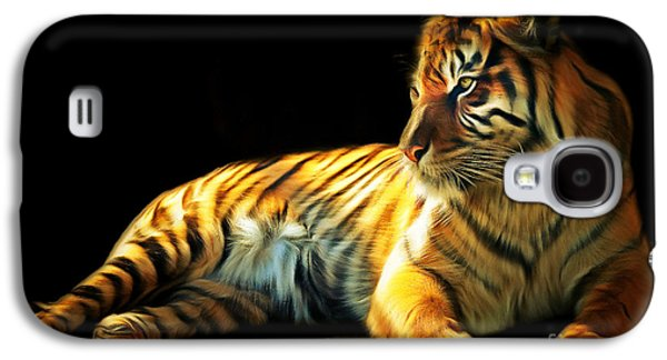 The Tiger Galaxy S4 Cases - Sumatran Tiger 20150210brun Galaxy S4 Case by Wingsdomain Art and Photography