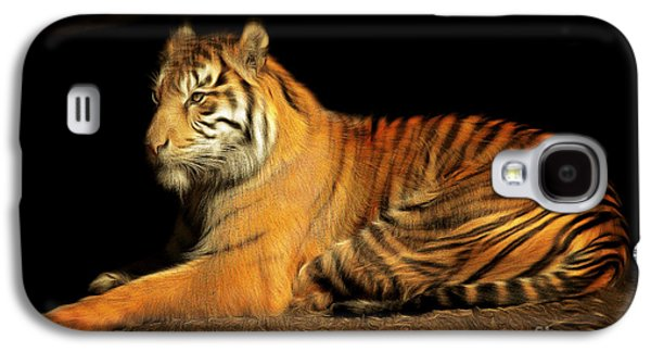 The Tiger Galaxy S4 Cases - Sumatran Tiger 20150211brun Galaxy S4 Case by Wingsdomain Art and Photography