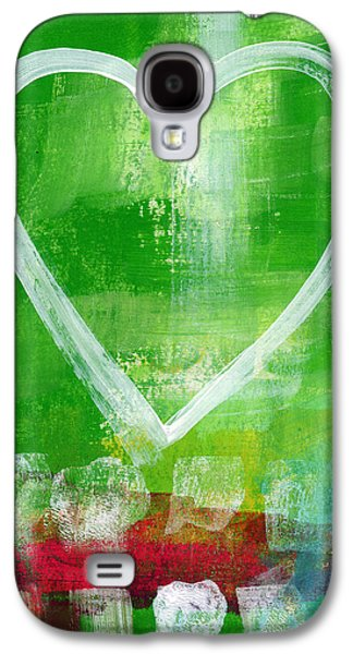 Sumer Love- Abstract Heart Painting Galaxy S4 Case by Linda Woods