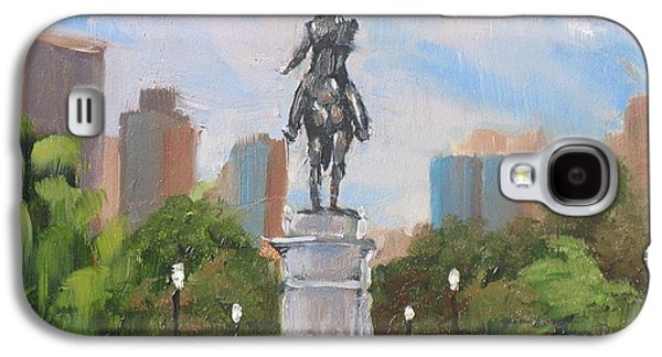 Boston Paintings Galaxy S4 Cases - Summer at the Gardens Galaxy S4 Case by Laura Lee Zanghetti