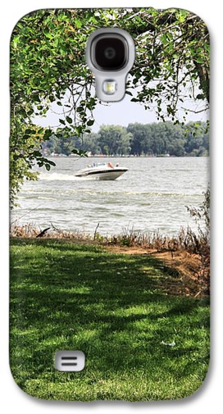 Boats On Water Galaxy S4 Cases - Summer At The Lake Galaxy S4 Case by Dan Sproul