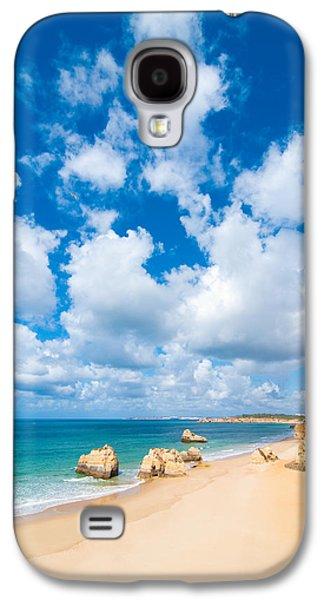 Beach Landscape Galaxy S4 Cases - Summer Beach Algarve Portugal Galaxy S4 Case by Amanda And Christopher Elwell
