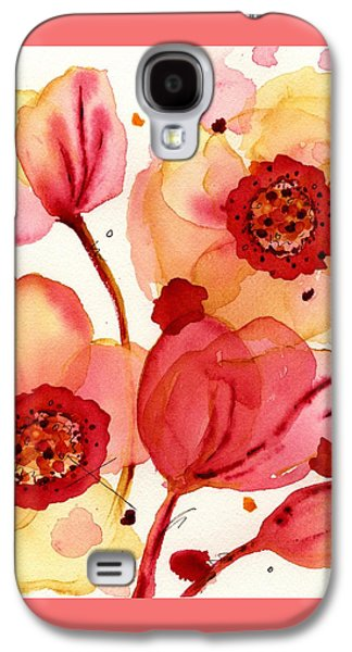 Recently Sold -  - Botanical Galaxy S4 Cases - Poppies Galaxy S4 Case by Dawn Derman