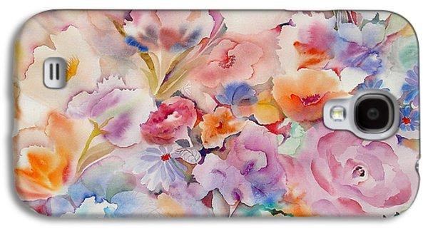 Tasteful Art Galaxy S4 Cases - Summer Blooms Galaxy S4 Case by Neela Pushparaj