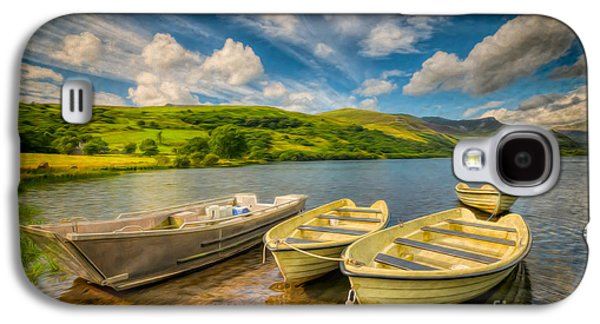 North Wales Digital Art Galaxy S4 Cases - Summer Boating Galaxy S4 Case by Adrian Evans