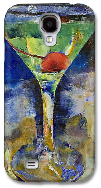 Cosmos Paintings Galaxy S4 Cases - Summer Breeze Martini Galaxy S4 Case by Michael Creese