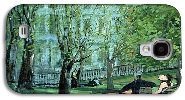 In The Shade Galaxy S4 Cases - Summer Day Boston Public Garden Galaxy S4 Case by George Luks