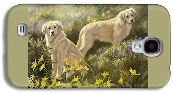 Dog Paintings Galaxy S4 Cases - Summer Day Galaxy S4 Case by Lucie Bilodeau