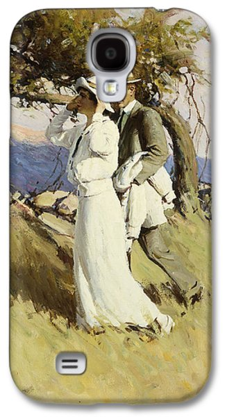Women Together Paintings Galaxy S4 Cases - Summer Days Galaxy S4 Case by William Henry Dethlef Koerner