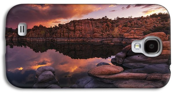 Watson Lake Galaxy S4 Cases - Summer Dells Sunset Galaxy S4 Case by Peter Coskun