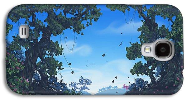 Phantasie Galaxy S4 Cases - Summer Fields Galaxy S4 Case by Cassiopeia Art