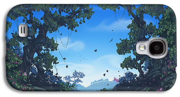 Summer Fields Galaxy S4 Case by Cassiopeia Art